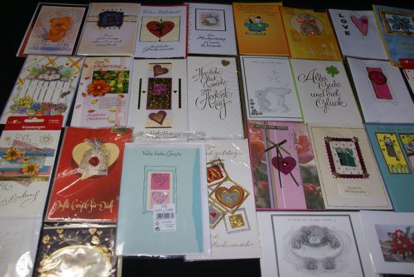 100 st ck karten pack geburtstagskarten gru karten gl ckwunschkarten set box neu ebay. Black Bedroom Furniture Sets. Home Design Ideas